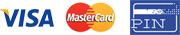 Betaling: Pin, Visa, MasterCard